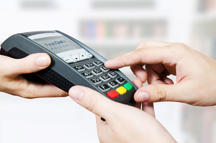 Płatność kartą za zakupy